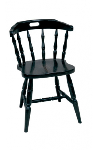 Traditional Farmhouse Style Turned Wood Captains Chair