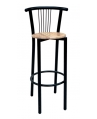 Bari Black Bar Stool