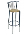 Bari Chrome Bar Stool