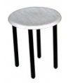Bari Low Black Bar Stool