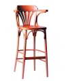 Fanback Wood Bar Chair