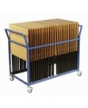 Folding Exam Desk Trolley x25