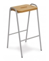 Wooden Top Stacking Stool